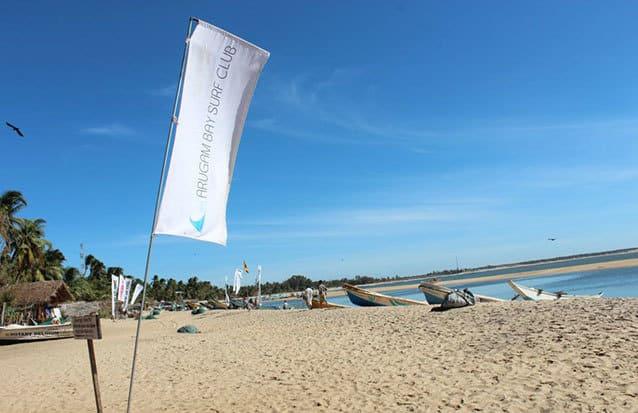 Plage d'Arugam Bay au Sri Lanka