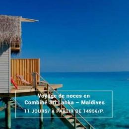 Voyage de noces en Combiné Sri Lanka – Maldives